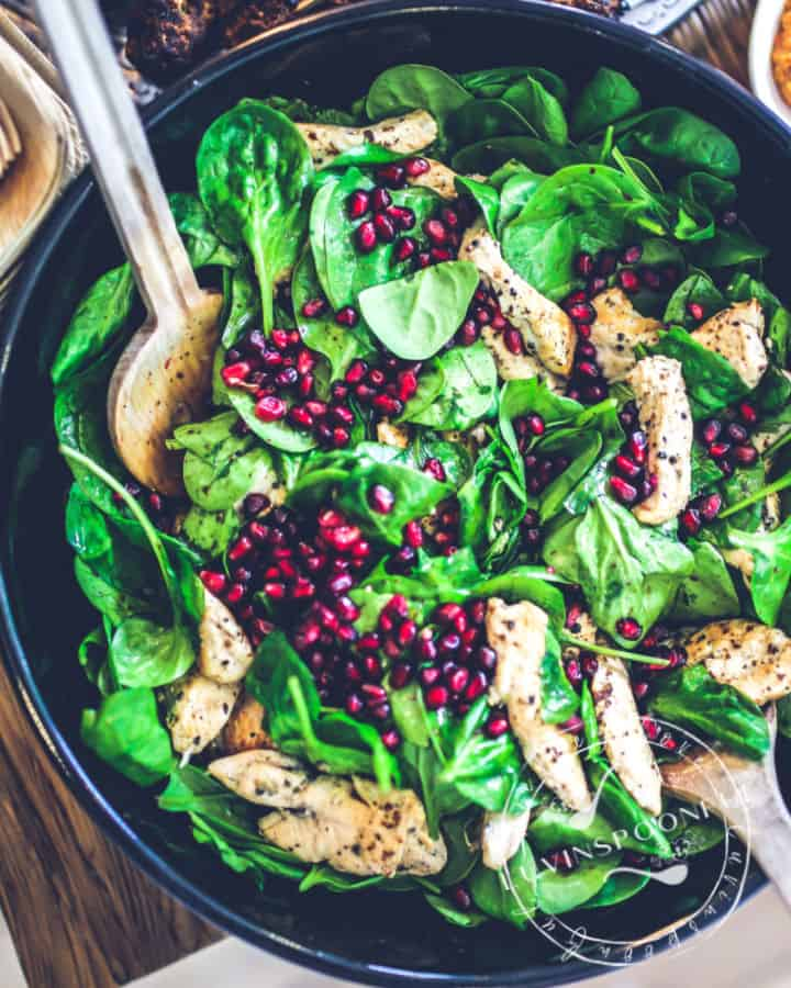 lemon-herb-chicken-salad-with-pomegranate